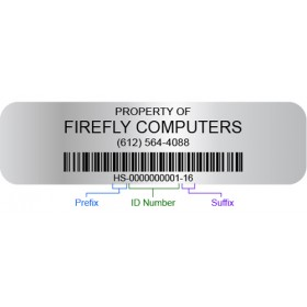 Customizable Barcoded Asset Tags