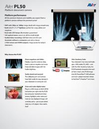 AVerVision PL50 Datasheet